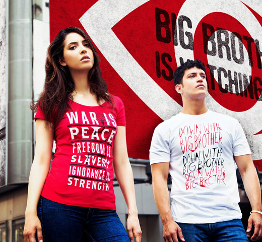 【Out of Print】 George Orwell / 1984 Tee (White)