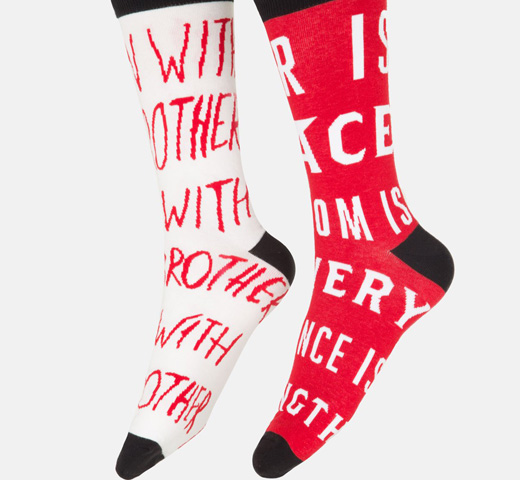 [Out of Print] George Orwell / 1984 Mismatched Socks