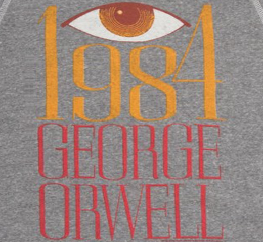 【Out of Print】 George Orwell / 1984 Sweatshirt (Heather Grey)