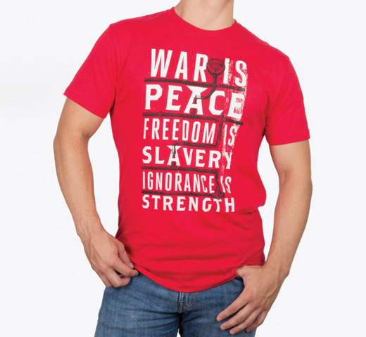 【Out of Print】 George Orwell / 1984 Tee (Red)