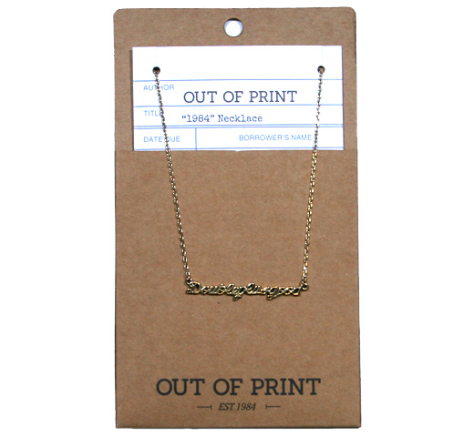 【Out of Print】 Doubleplusgood Necklace (1984)