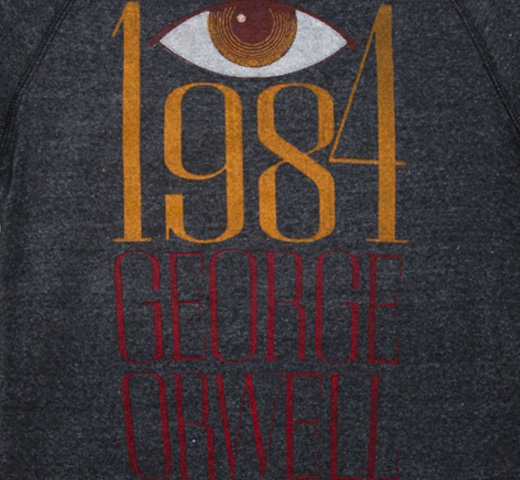 【Out of Print】 George Orwell / 1984 Fleece (Heather Black)