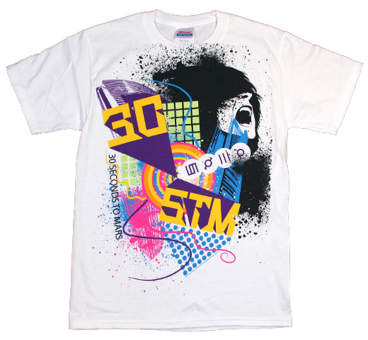 30 Seconds To Mars / Splatter Scream Tee
