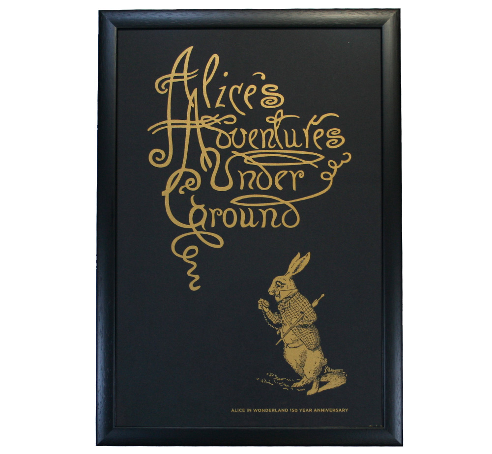 【Out of Print】 Alice 150th Anniversary Poster (Framed-1)