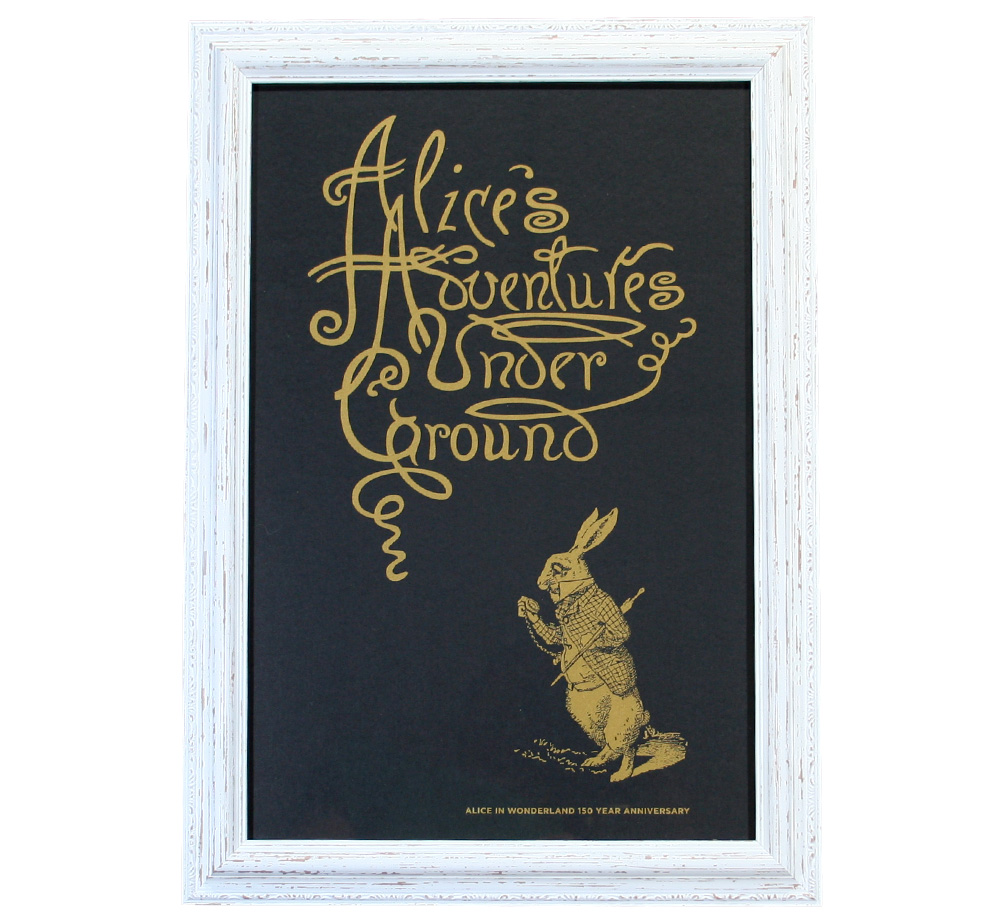 【Out of Print】 Alice 150th Anniversary Poster (Framed-2)