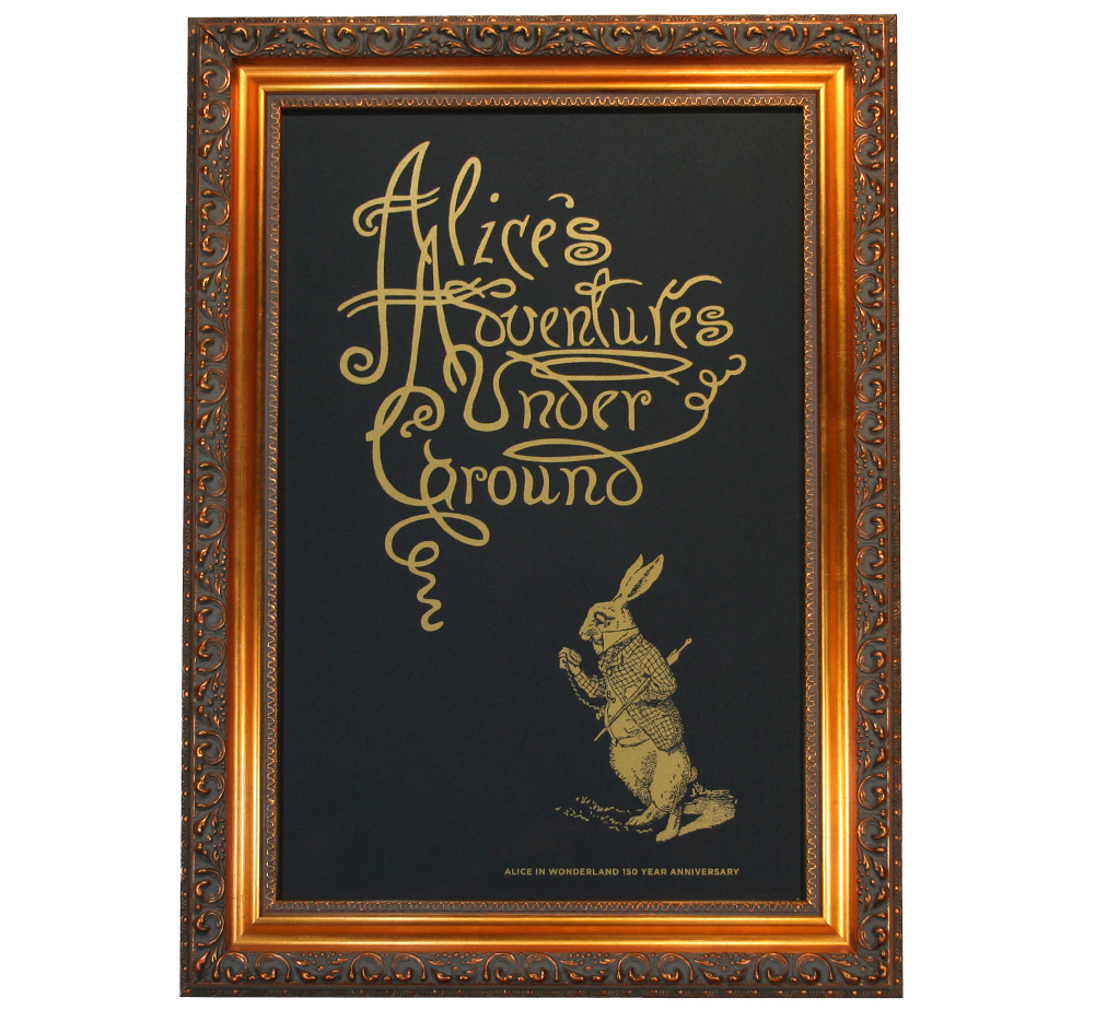 【Out of Print】 Alice 150th Anniversary Poster (Framed-3)