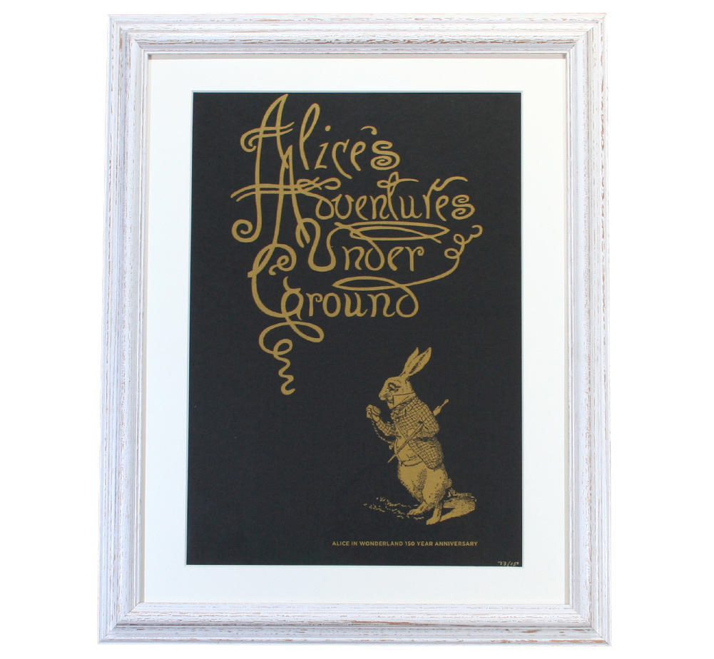 【Out of Print】 Alice 150th Anniversary Poster (Framed-4)