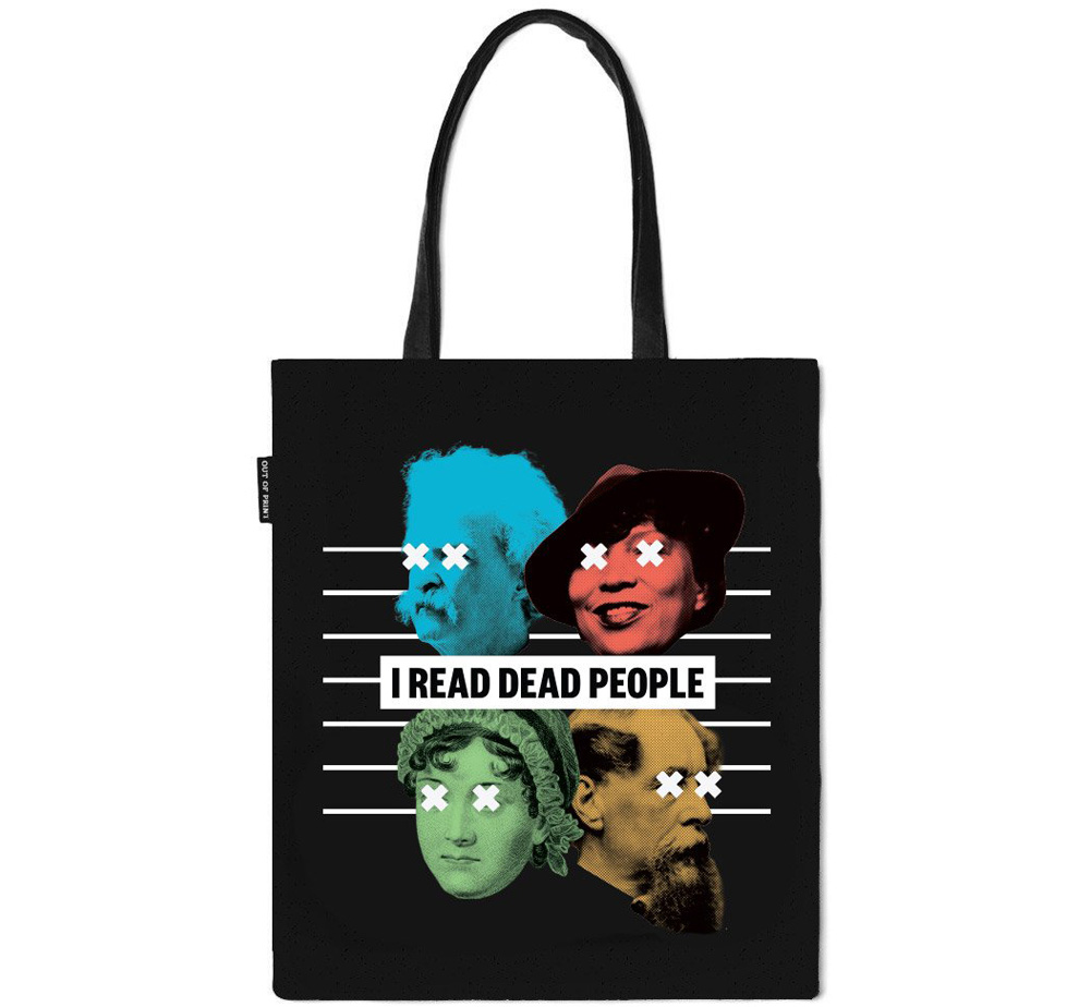 【Out of Print】 Book Riot / I READ DEAD PEOPLE Tote Bag