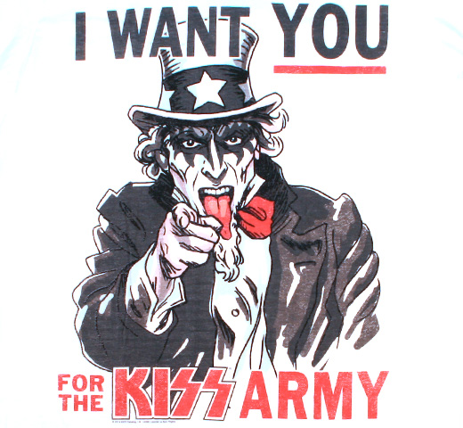 Kiss /  I Want You For The KISS Army Tee 2 (White)