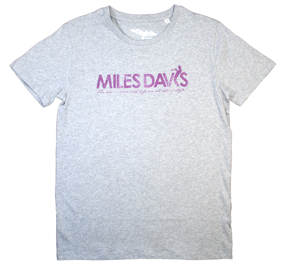 【Worn Free】 Miles Davis / Style Logo Tee (Heather Grey)