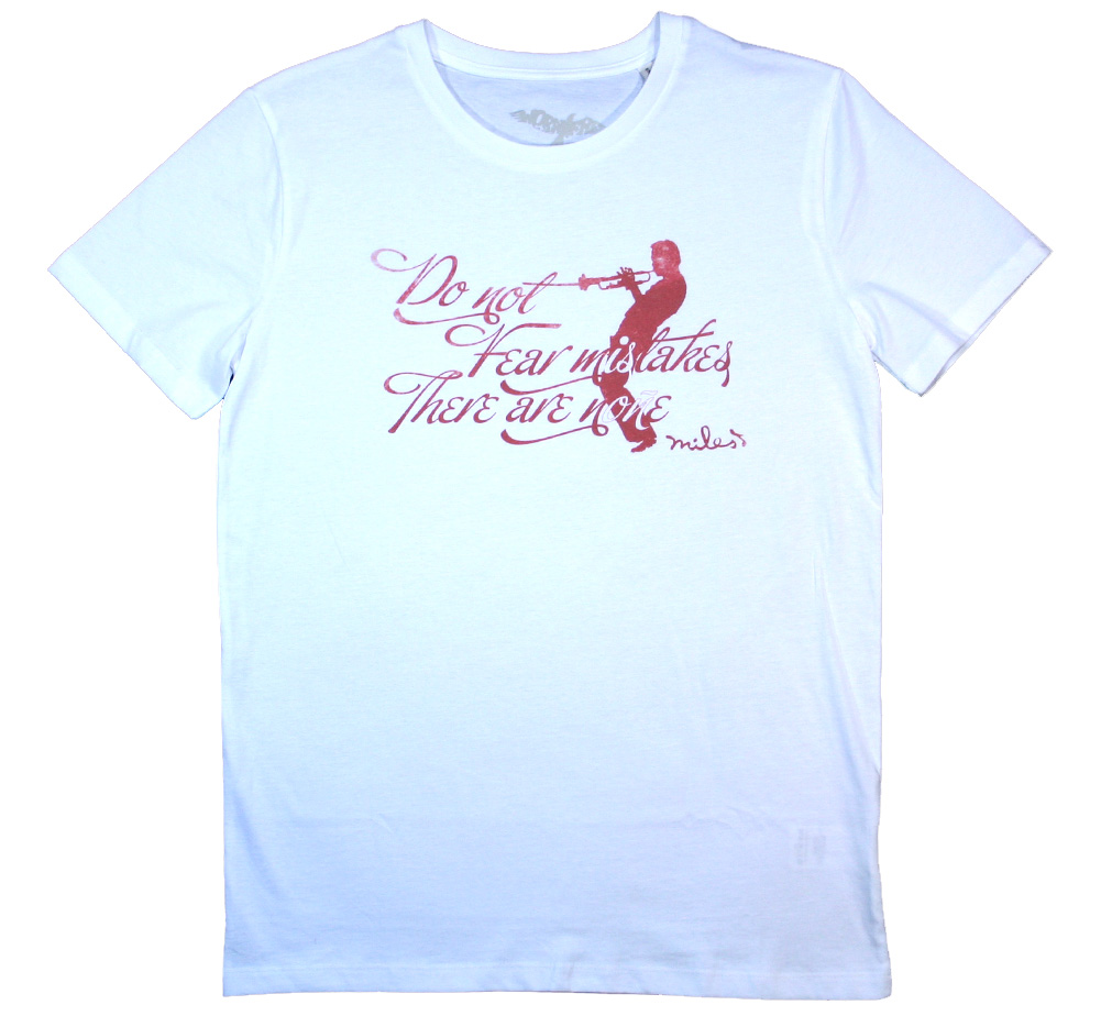 【Worn Free】 Miles Davis / Do Not Fear Mistakes Tee (White)