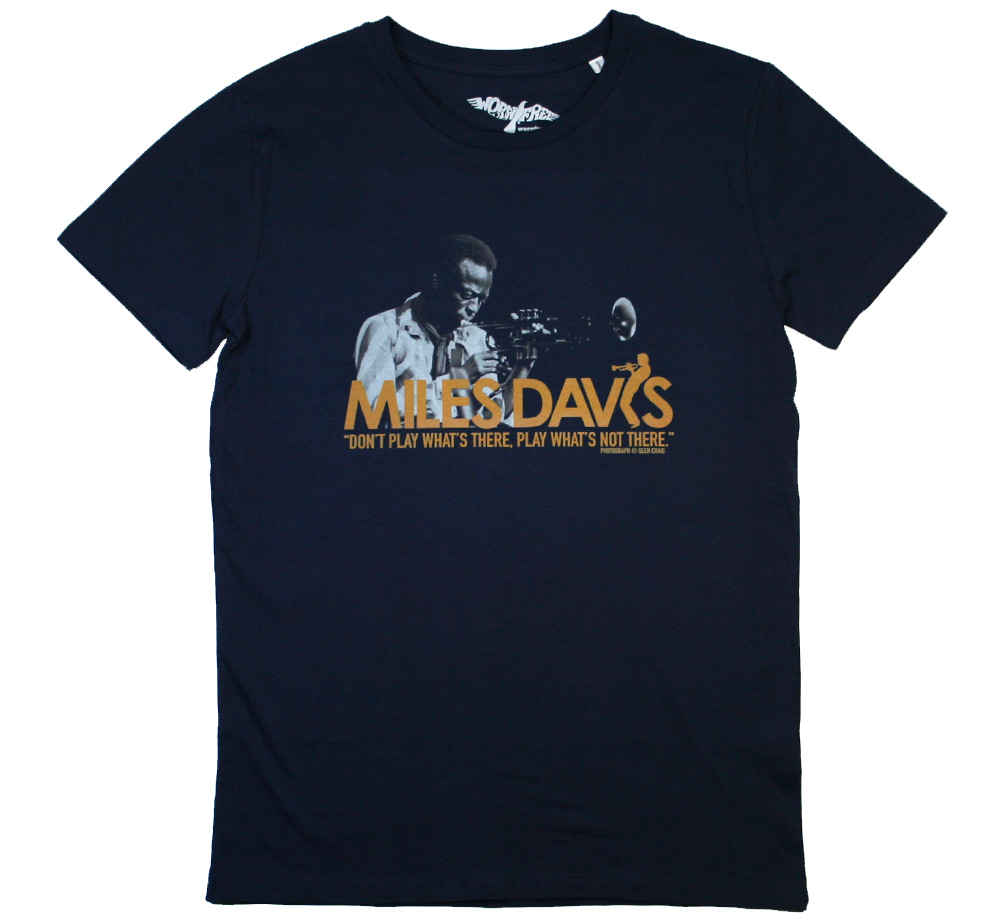 【Worn Free】 Miles Davis / Don't Play What's There Tee (Navy)