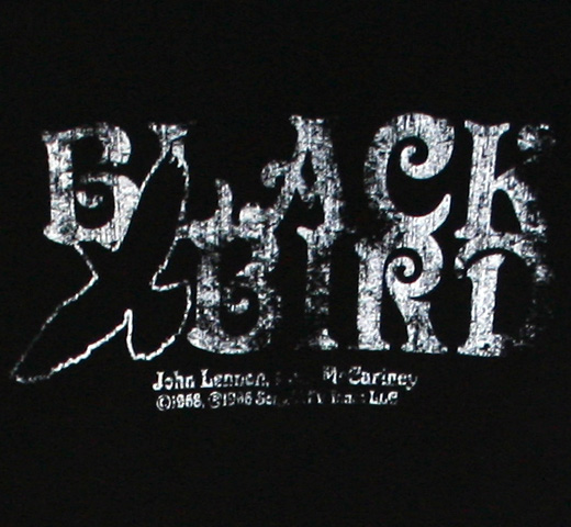 【English Laundry】 Lennon-McCartney / Blackbird Tee (Black)