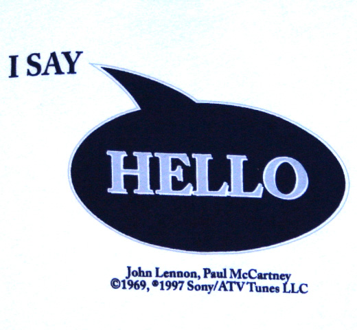 【English Laundry】 Lennon-McCartney / Hello Goodbye Tee (White)