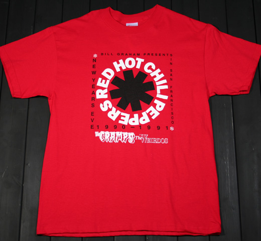 Red Hot Chili Peppers / San Francisco Civic Auditorium 12/31/1990 Tee