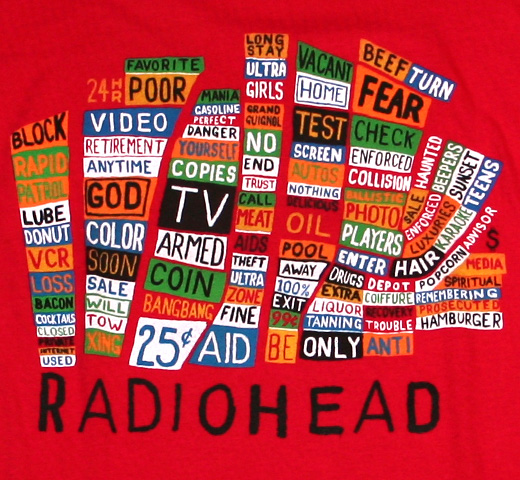Radiohead / Pacific Coast Tee (Red)