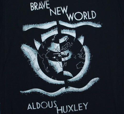 【Out of Print】 Aldous Huxley / Brave New World Tee (Dark Navy)