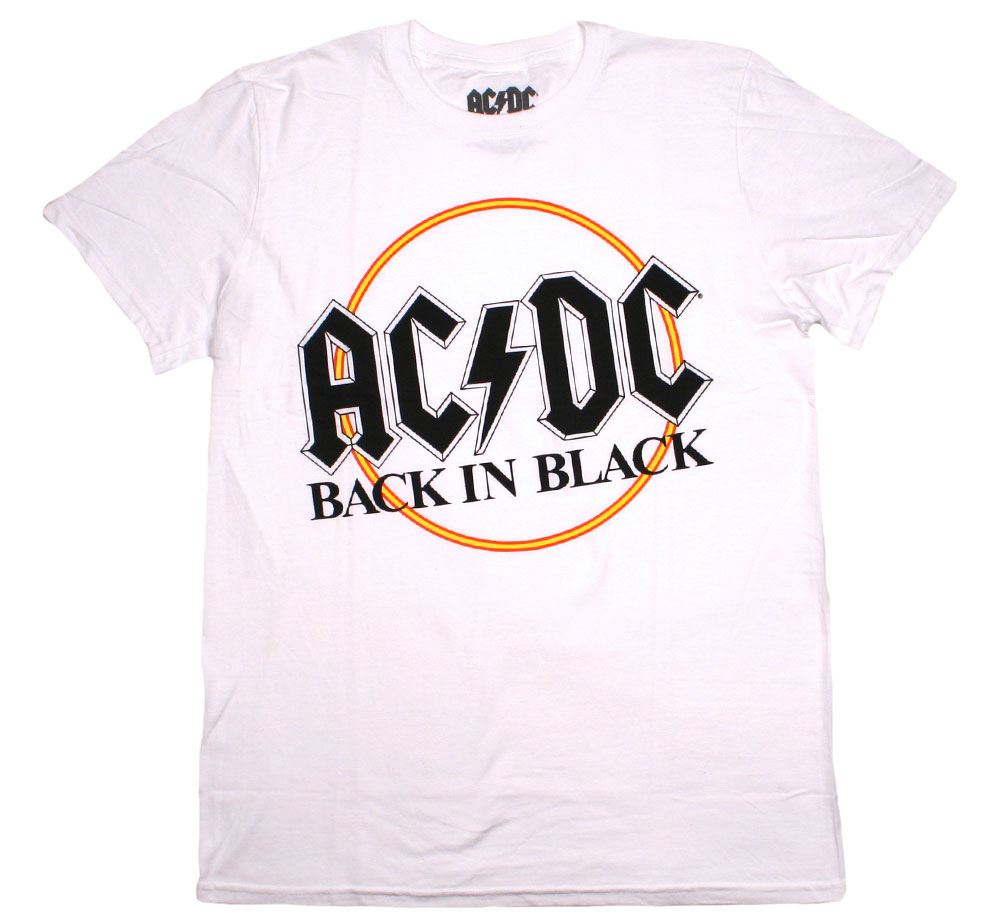 AC/DC / Back in Black Tee (White)