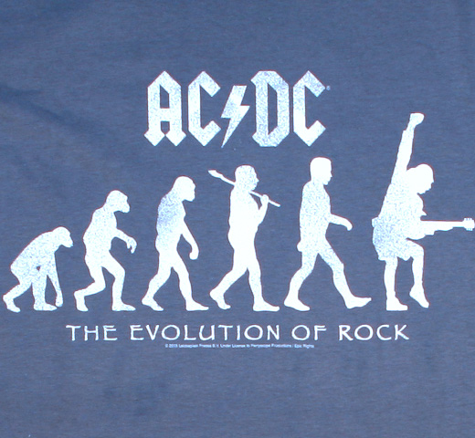 AC/DC / The Evolution of Rock Tee (Pale Blue)