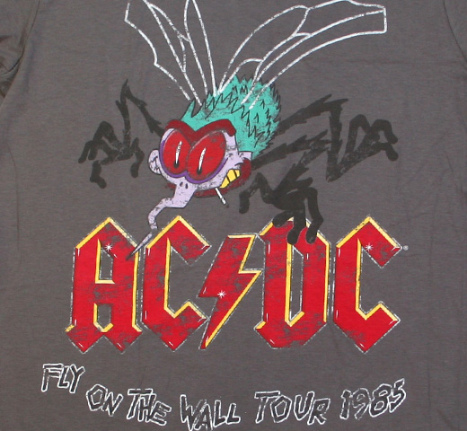 AC/DC / Fly on the Wall Tour 1985 Tee (Charcoal Grey)