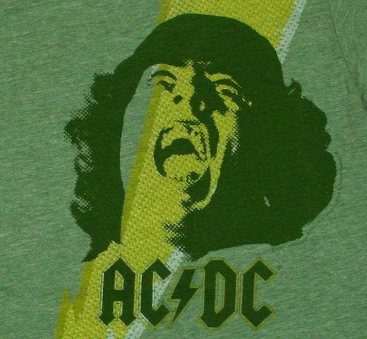 AC/DC / High Voltage Ringer Tee (Green)