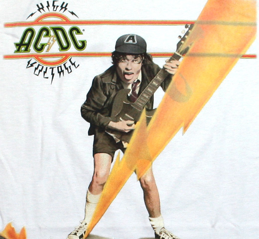 AC/DC / High Voltage Tee (Vintage White)