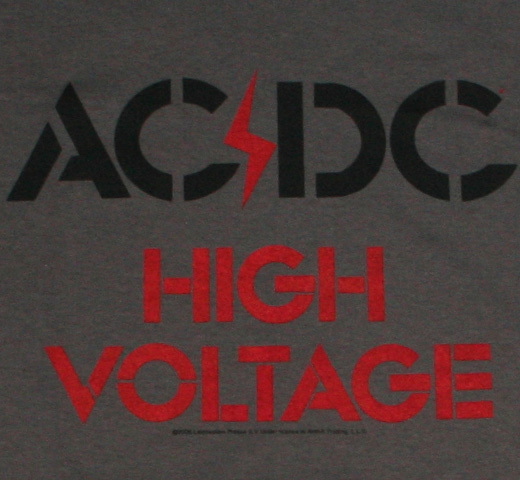 AC/DC / High Voltage Tee (Charcoal)