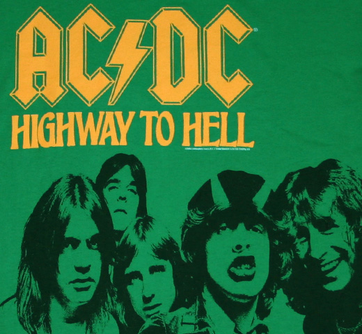 AC/DC / Highway To Hell Tee (Green)