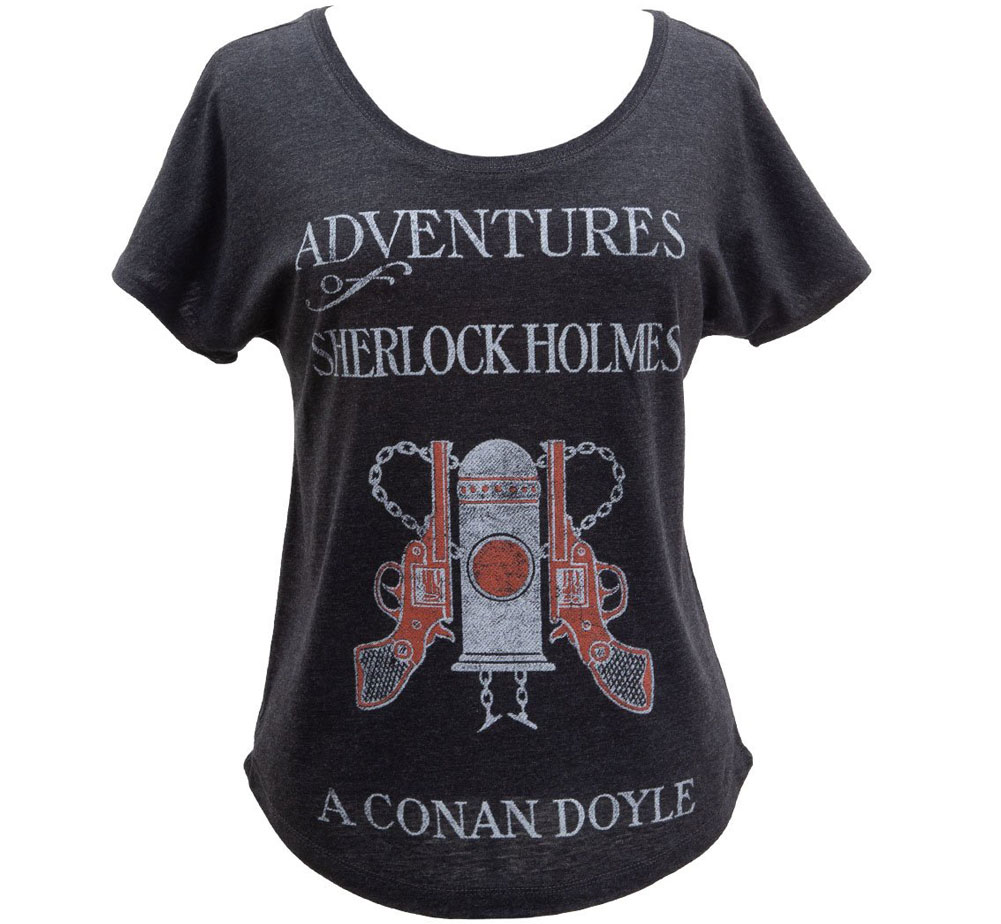 [Out of Print] Arthur Conan Doyle / The Adventures of Sherlock Holmes Relaxed Fit Tee (Vintage Black) (Womens)