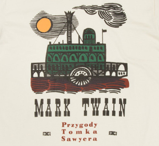 [Out of Print] Mark Twain / Przygody Tomka Sawyera Tee (Ivory) (Womens)