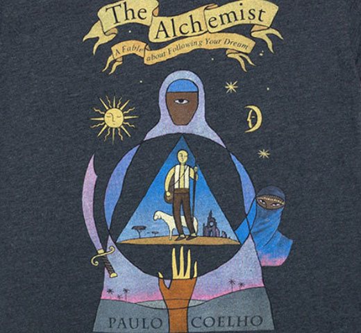 【Out of Print】 Paulo Coelho / The Alchemist Tee (Navy)