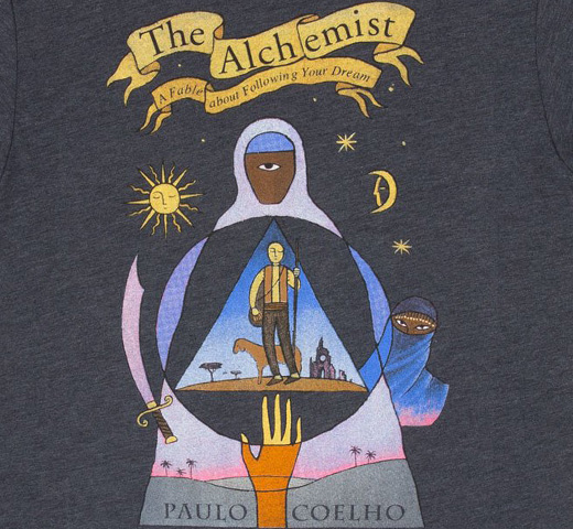 [Out of Print] Paulo Coelho / The Alchemist Tee (Vintage Navy)