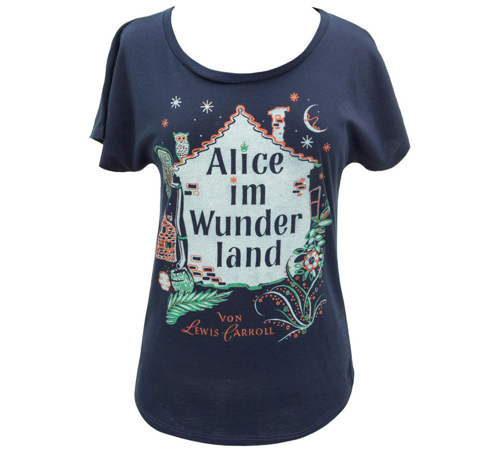 [Out of Print] Lewis Carroll / Alice im Wunderland Relaxed Fit Tee (Midnight Navy) (Womens)