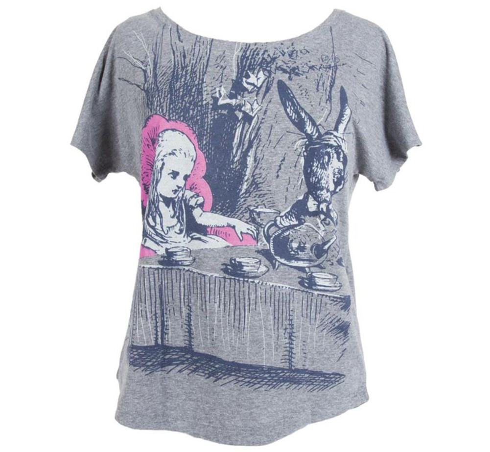 【Out of Print】 Lewis Carroll / Alice's Adventures in Wonderland Dolman Tee (Heather Grey) (Womens)