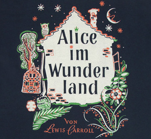 【Out of Print】 Lewis Carroll / Alice im Wunderland Scoop Neck Tee (Midnight Navy) (Womens)