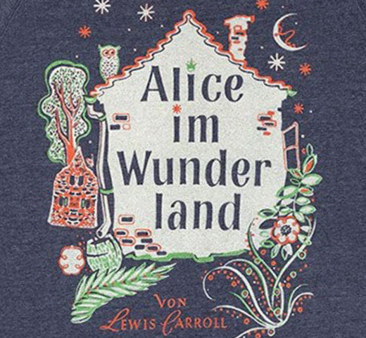 【Out of Print】 Lewis Carroll / Alice im Wunderland Sweatshirt (Navy)