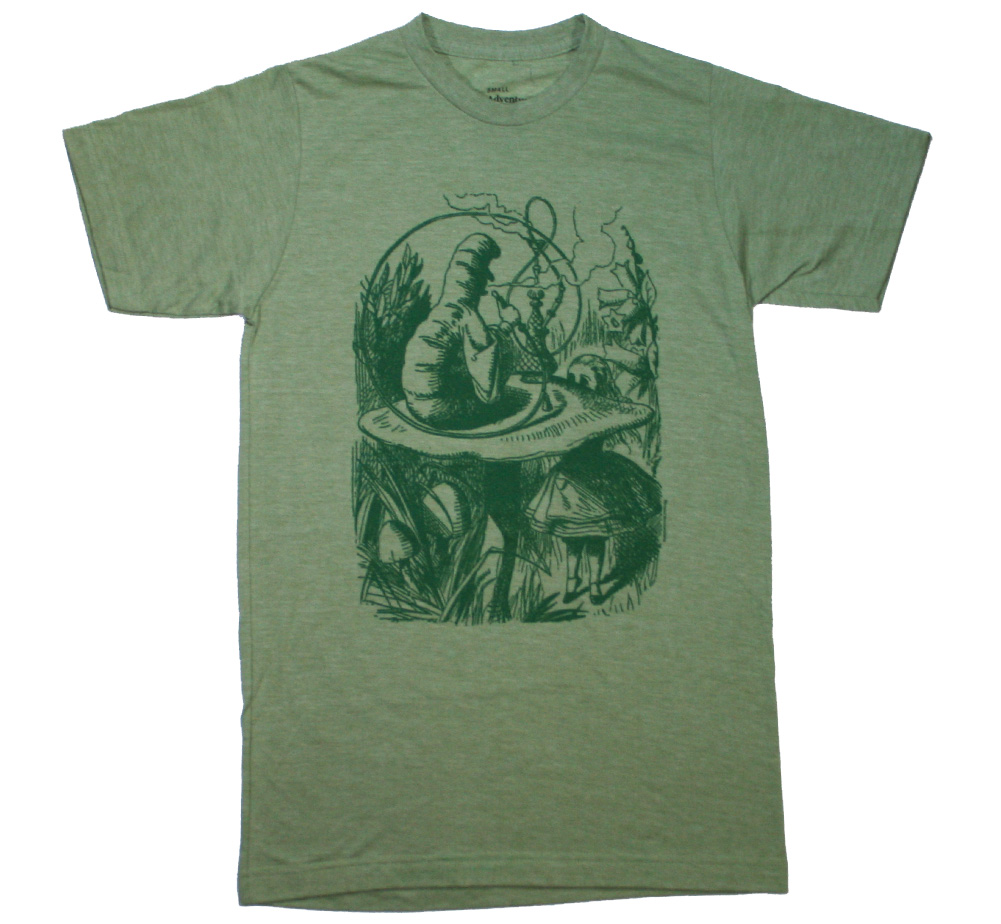 Alice's Adventures in Wonderland / Hookah Caterpillar Tee (Heather Green)