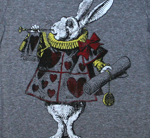 Alice's Adventures in Wonderland / White Rabbit Tee (Premium Heather) (Womens)