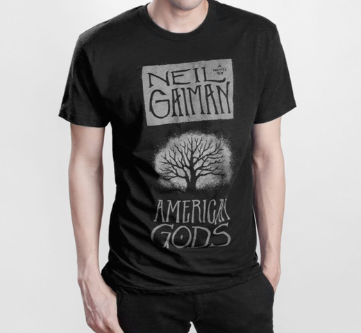 【Out of Print】 Neil Gaiman / American Gods Tee (Black)