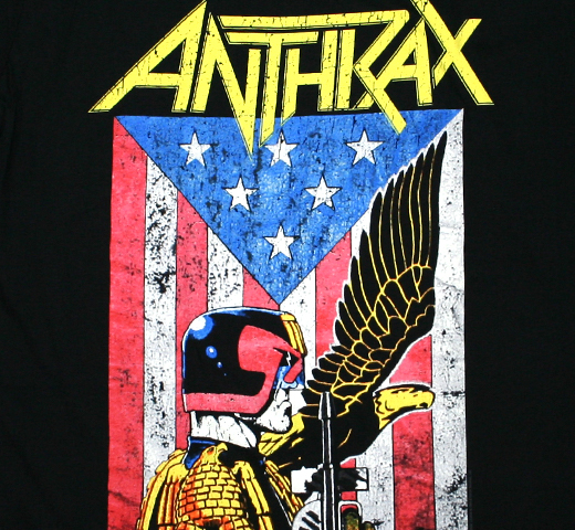 Anthrax / Judge Dredd Tee (Black)
