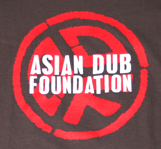 Asian Dub Foundation / White Logo Tee