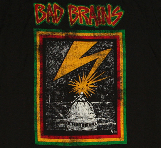 Bad Brains / Capitol Tee (Distressed Black)