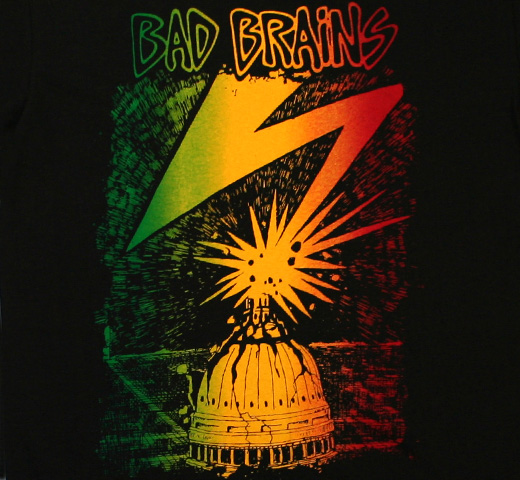 Bad Brains / Capitol Tee (Black / Rasta Fade)