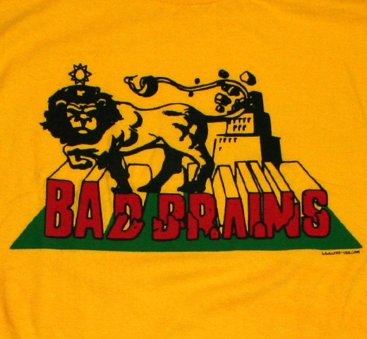 Bad Brains / Rasta Lion Tee (Yellow)