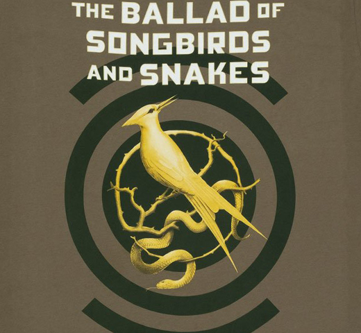 [Out of Print] Suzanne Collins / The Ballad of Songbirds and Snakes Tee (Army Green)