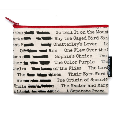 【Out of Print】 Banned Books Pouch