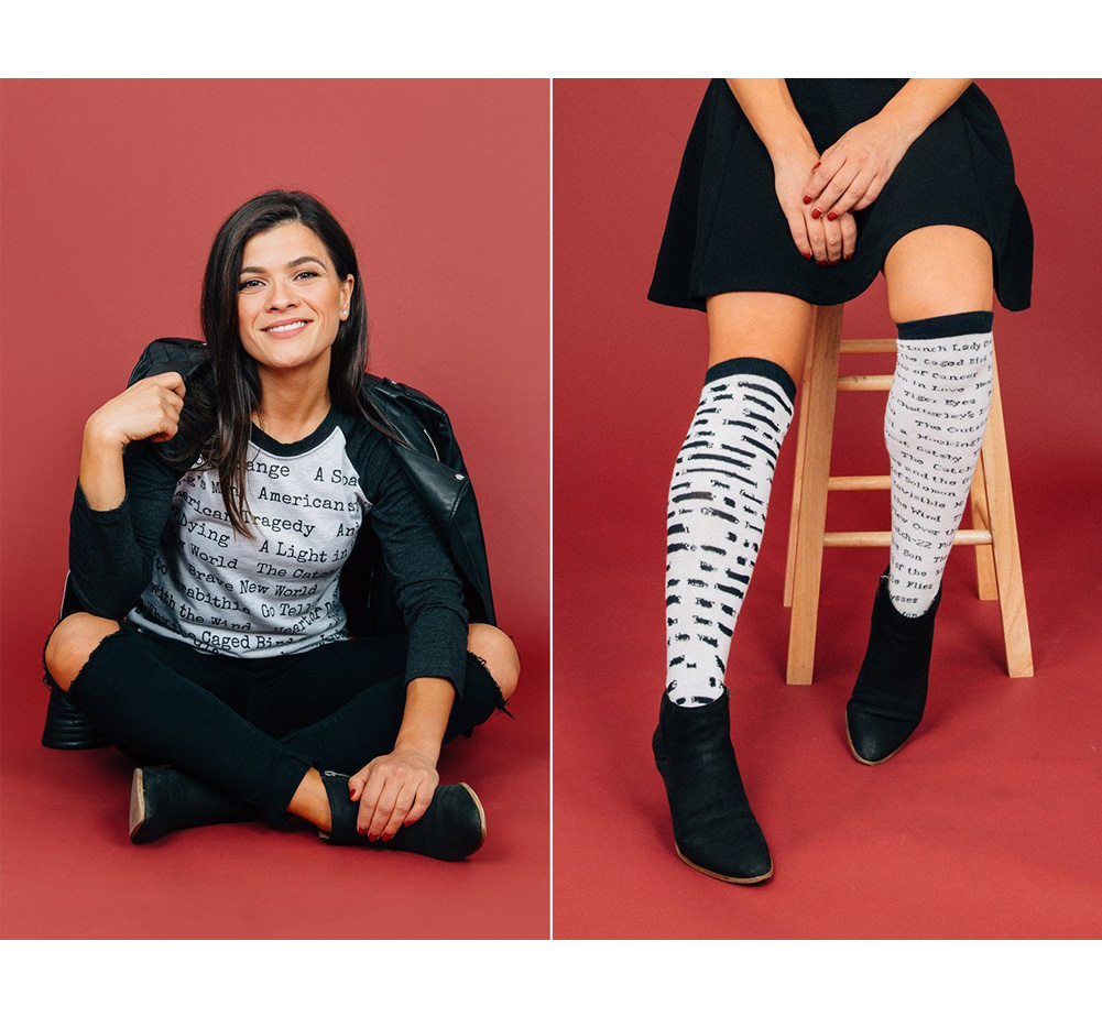 [Out of Print] Banned Books Knee-High Socks