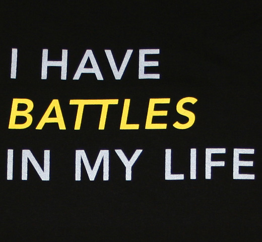 Battles / I Have Battles In My Life Tee (Black)