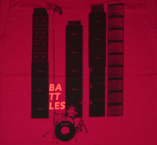 Battles / Stacks Tee (Raspberry)