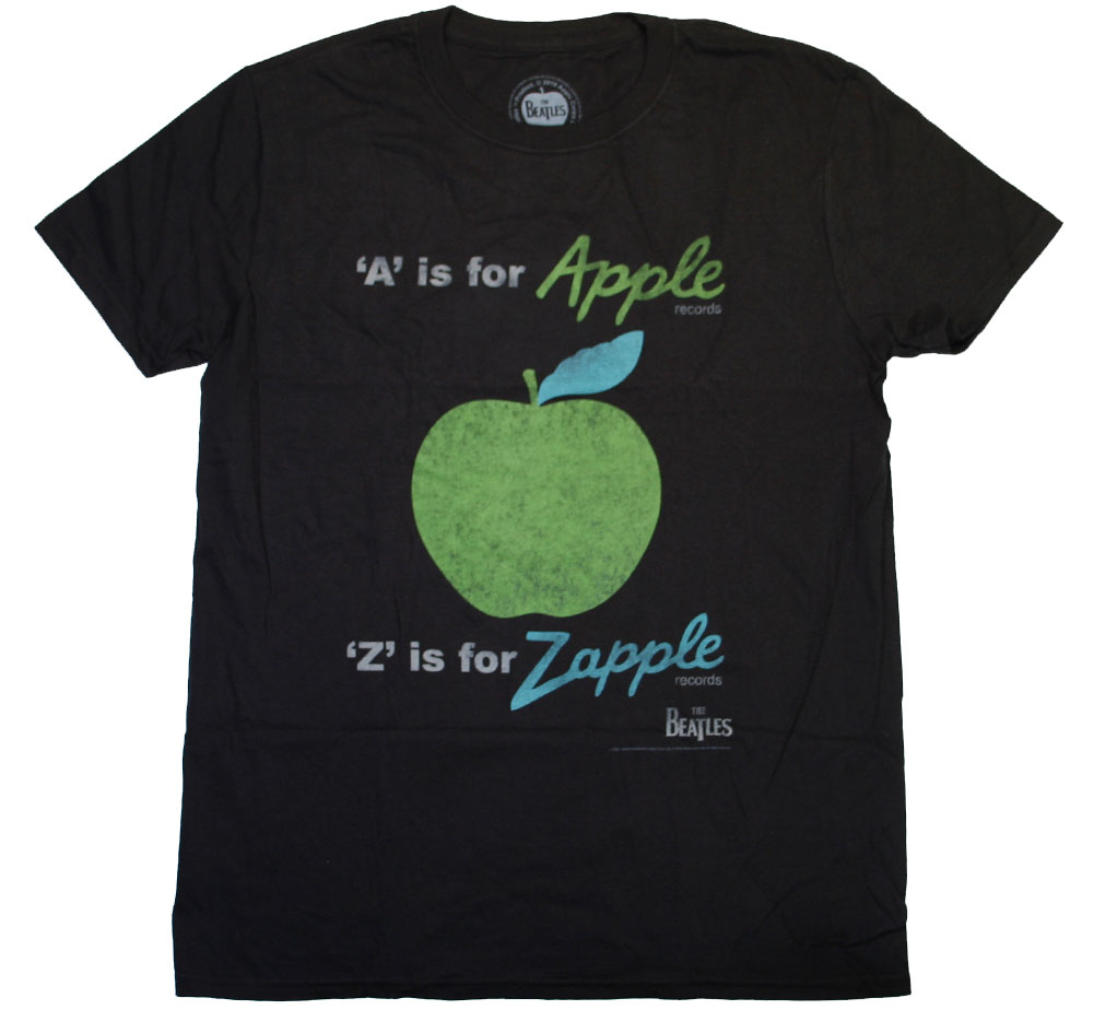 The Beatles / A is for Apple Records Tee (Black)